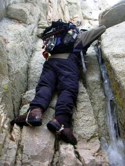 Climbing the Waterfall Pitch (1)