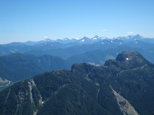 Waring Peak & Northern Strathcona Park from Sutton Peak