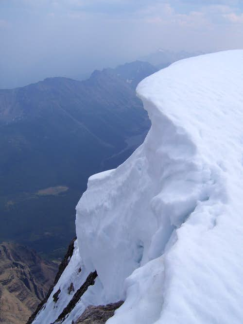 Cornice near summit of Mt. Temple