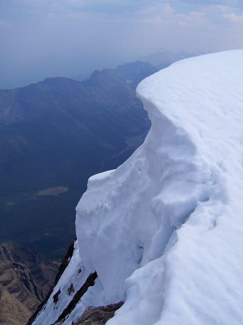 Cornice near summit of Mt. Temple