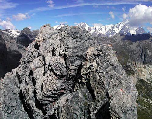 Rocks on the top of Lancebranlette <i>(2927 m)</i>