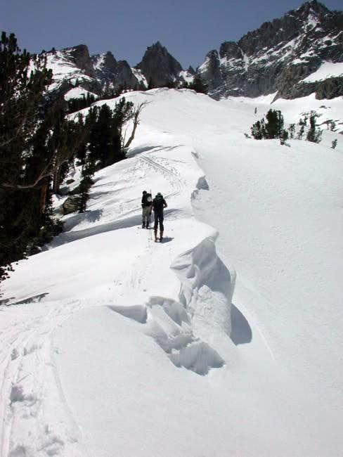 Skinning up to Matterhorn's...