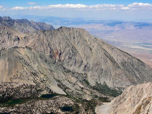 Kearsarge Peak south side from University Peak