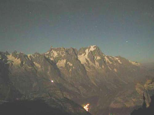 Full moon on Mont Bianco; the...