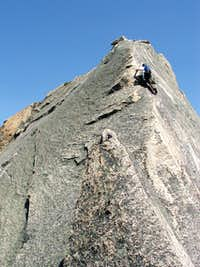 Gaining the ridge on pitch 6
