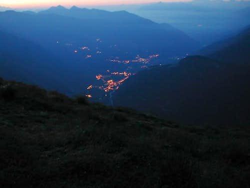 The lights of Pré San Didier...