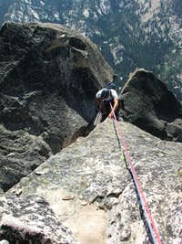 Rappelling pitch 6