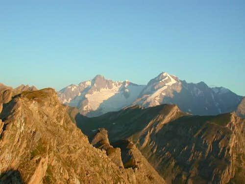 Aiguille des Glaciers and...