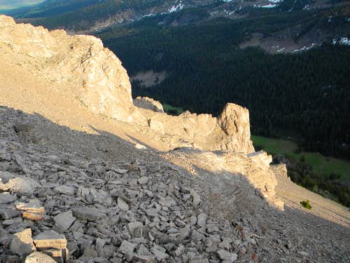 Targhee Peak Outcrops and Scree