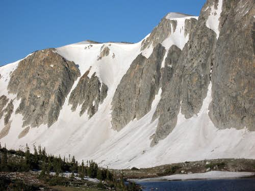 Couloirs near Lookout Lake