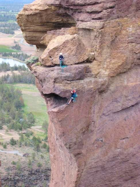 Climbers nearing the top. May...