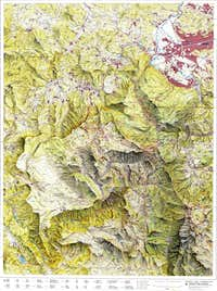 Bjelasnica hiking  map 1:50000 scale