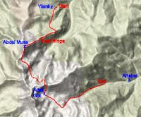 Our route in Gavur Mountains