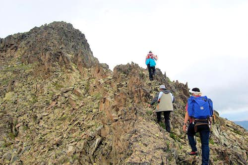 Climbing the East Ridge