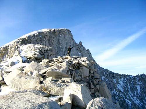 Rinat on the ridge to the...