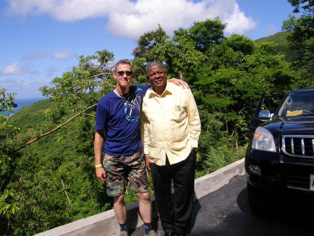 The Hon Baldwin Spencer and I on Mount Obama