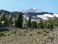 The climb near treeline
