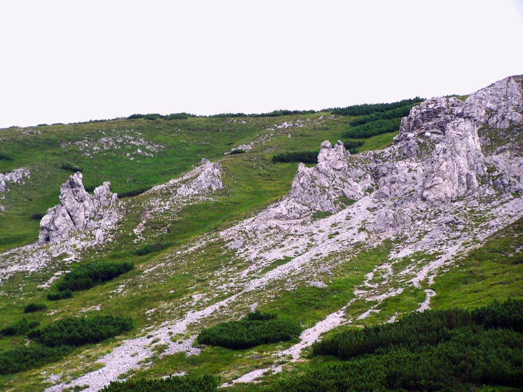 Cliffs on the southern slopes of Belianska kopa