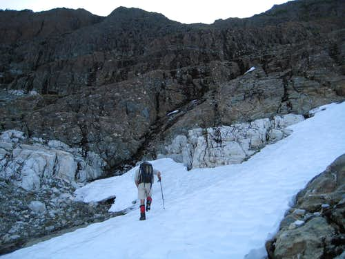 Traversing the West Buttress