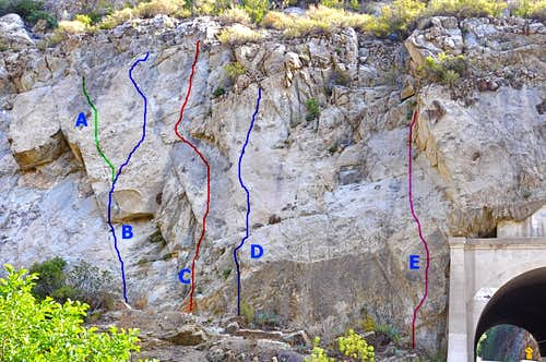 Routes of the sandstone area