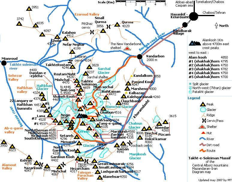 Diagram map of Takht-e-Soleiman