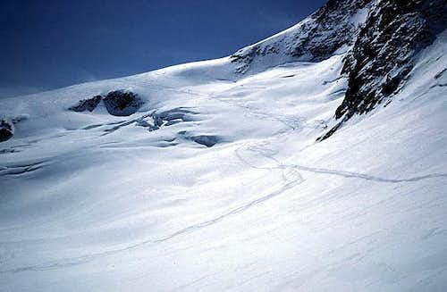 the slopes from the gletscher...