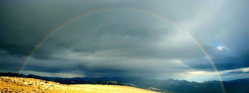 Rainbow from Chiquita\'s Summit