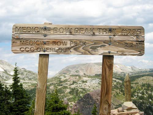Medicine Bow Peak Trail Sign