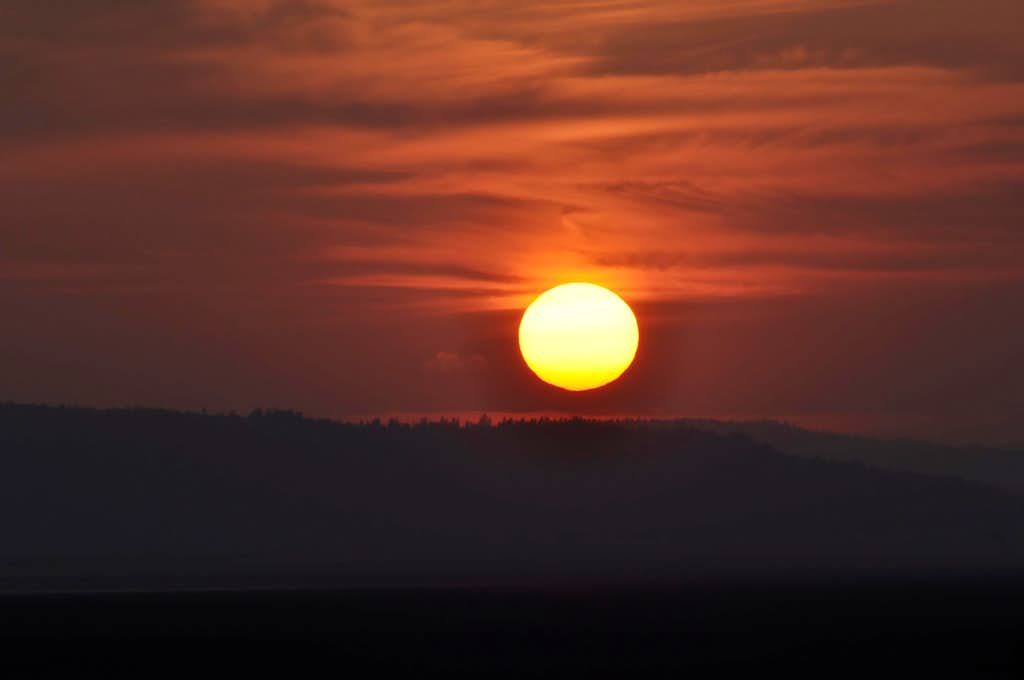 Wildfires Sunset
