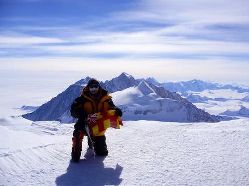 The summit of Vinson