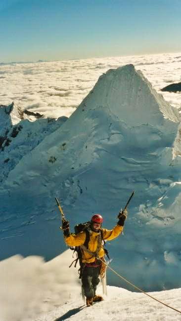 Reto right under the summit...