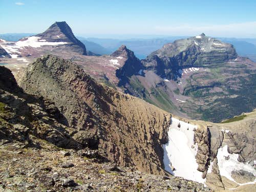 Sperry Glacier Basin Viewed from Dragon\'s Tail.
