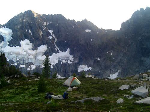 High camp on Fernow East Ridge