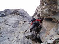 fun climbing on excellent rock on the final headwall