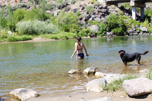 Swimming in Rio Grande