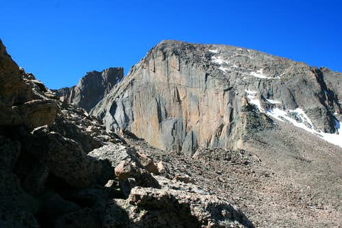 Longs  Diamond from Lady Washington West Slopes