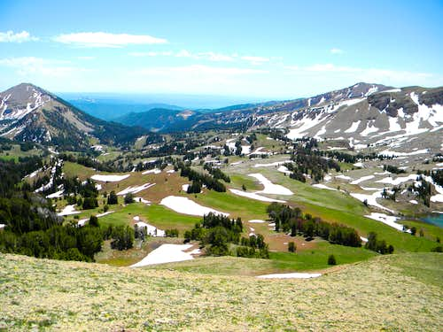 Targhee Basin from the South Point of Sheep Point