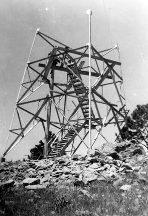 The Rankin Ridge Fire Tower Under Construction
