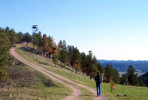 Hiking up Rankin Ridge