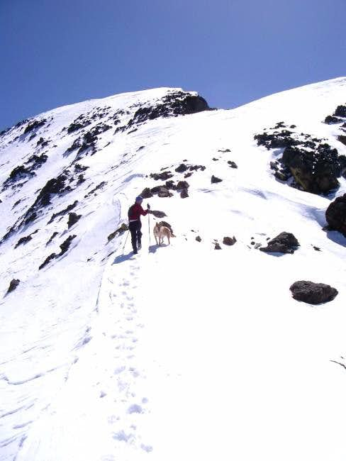 Upper NW ridge in May 2004