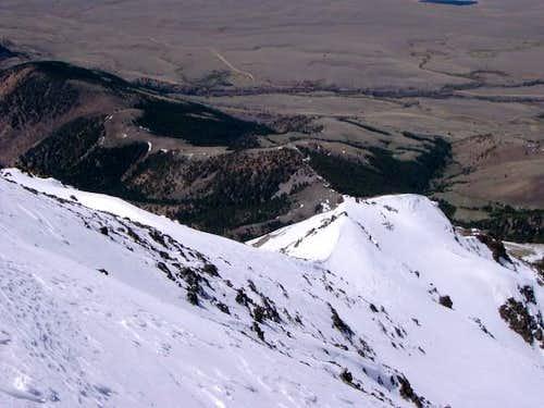 The northwest ridge from just...