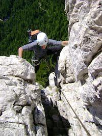 Me climbing Ettore Bovero