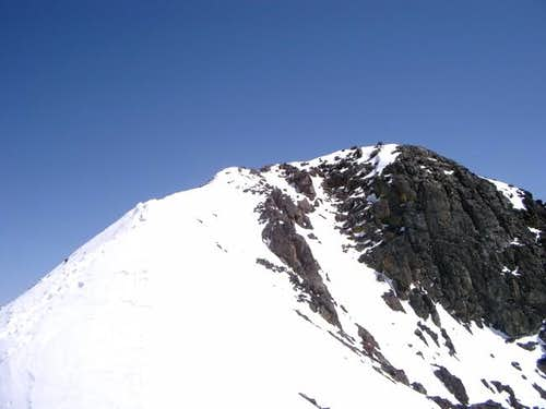 NW ridge route in May 2004