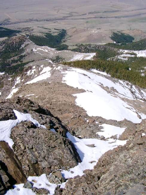 NW ridge route - lower...