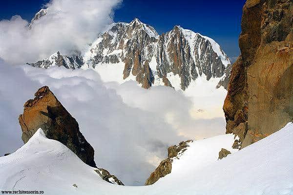 Mont Maudit and Mont Blanc Blanc de Tacul