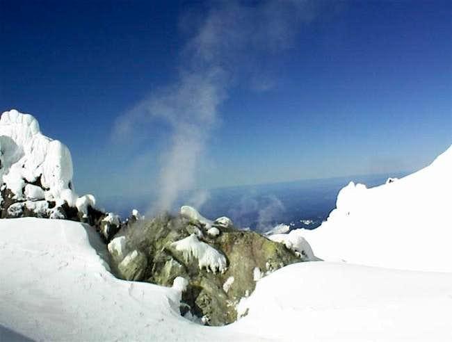 Fumarole #1 of Crater Rock -...