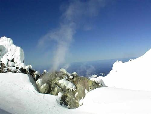 Fumarole #1 of Crater Rock -...