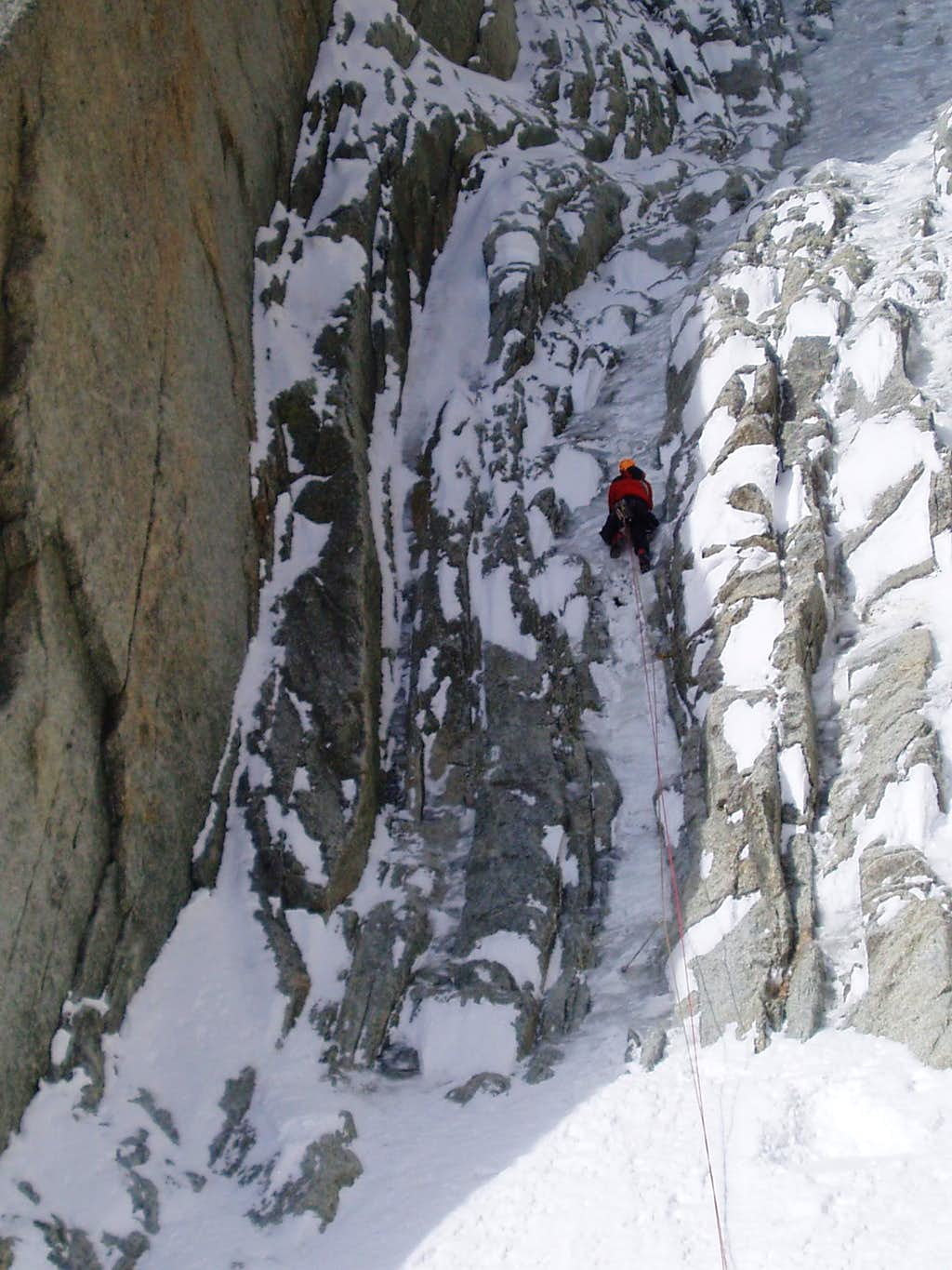 first pitch up the main gully