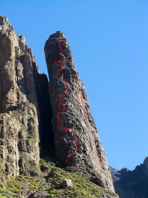 Placa Roja North Ridge route