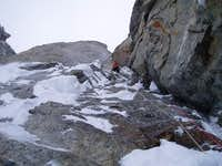 super fun mixed climbing above the crack